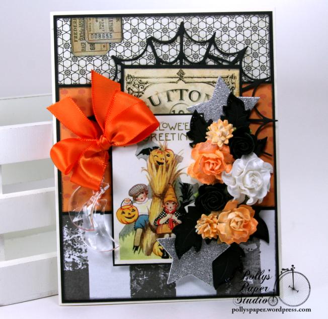 Vintage Children Halloween Greeting Card Polly's Paper Studio 02