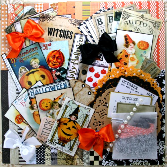 Vintage Halloween Creativity Kit 2017 Polly's Paper Studio