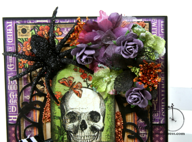 Vintage Halloween Greeting Card Holiday Home Decor Polly's Paper Studio 03