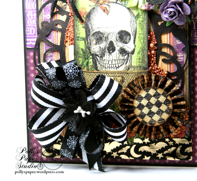 Vintage Halloween Greeting Card Holiday Home Decor Polly's Paper Studio 04