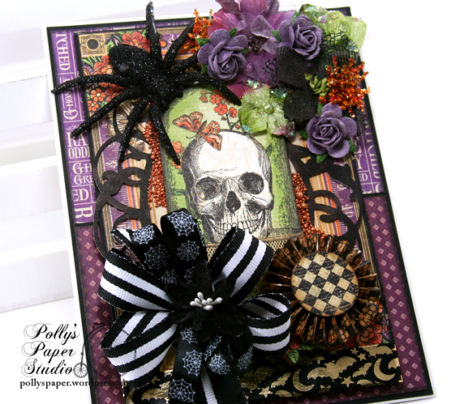 Vintage Halloween Greeting Card Holiday Home Decor Polly's Paper Studio 06