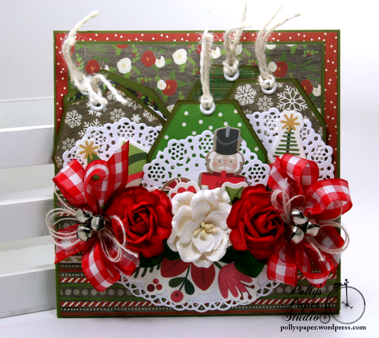 Christmas Pocket with Tags Polly's paper Studio Handmade 01
