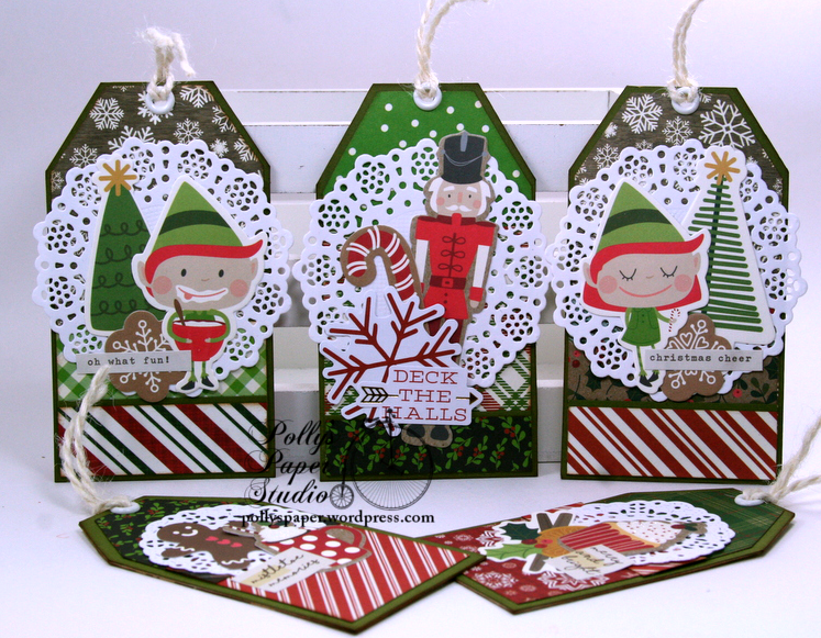 Christmas Pocket with Tags Polly's paper Studio Handmade 04