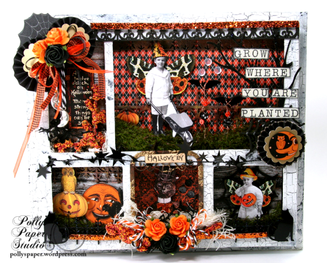 ginnyn-Grow Where You Are Planted Halloween Shadow Box 1