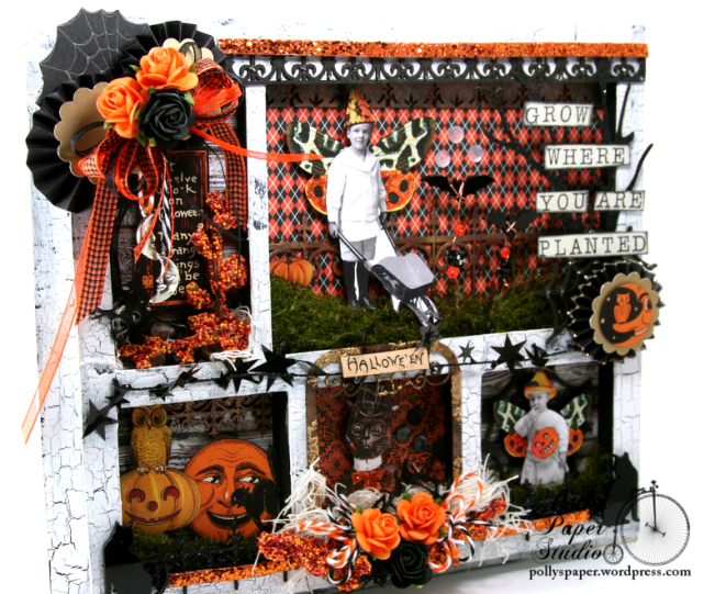 ginnyn-Grow Where You Are Planted Halloween Shadow Box 6