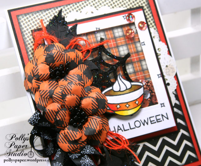 Halloween Cuppa Shaker Greeting Card Polly's Paper Studio 03