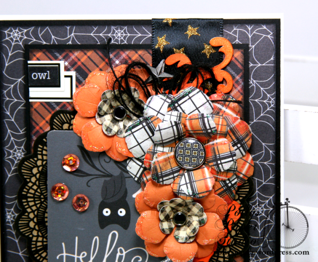 Hello Owl Halloween Greeting Card Polly's Paper Studio 03