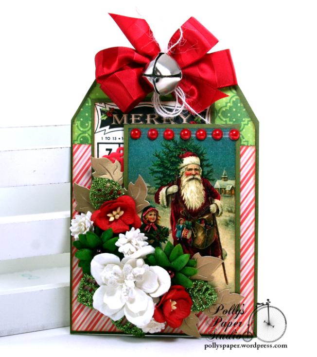 Merry Christmas Bingo Tag Polly's Paper Studio 01