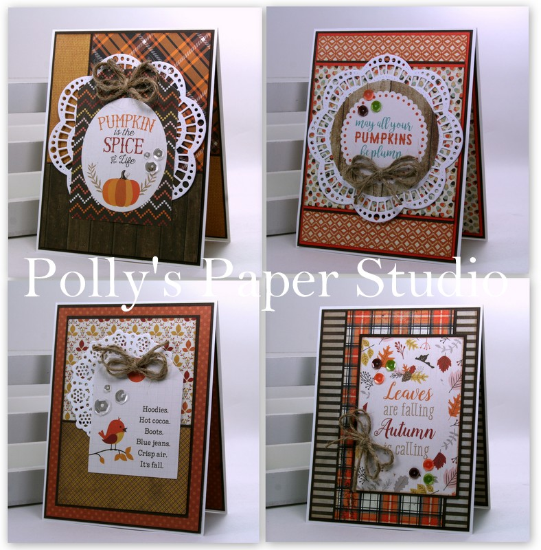 Harvest wreath and pumpkin die cuts for cards or scrapbook 6 pieces