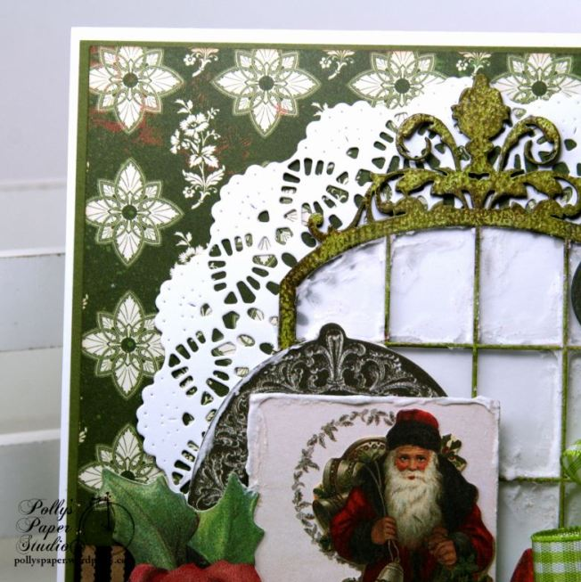Believe Frosty Window Christmas Greeting Card Polly's Paper Studio 02
