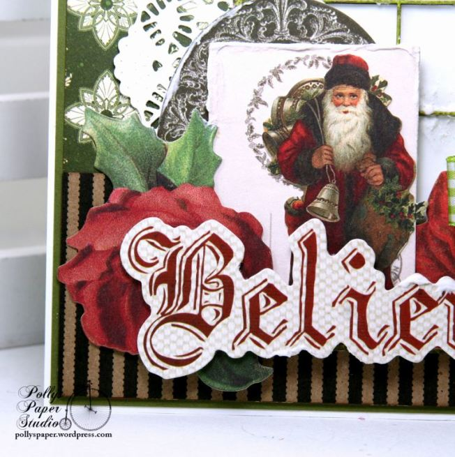 Believe Frosty Window Christmas Greeting Card Polly's Paper Studio 03