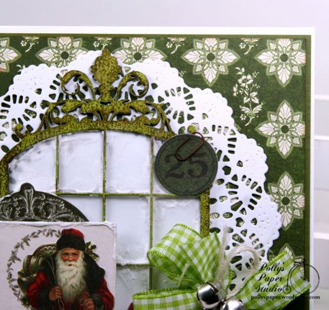 Believe Frosty Window Christmas Greeting Card Polly's Paper Studio 04