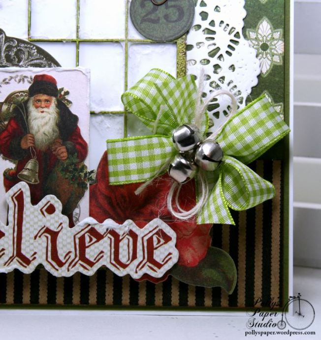 Believe Frosty Window Christmas Greeting Card Polly's Paper Studio 05