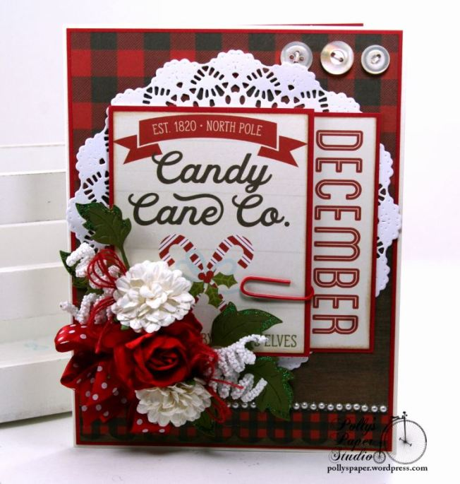 Candy Cane Co. Christmas Greeting Card Polly's Paper Studio Handmade 01