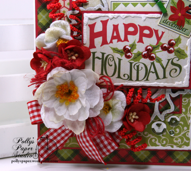 Happy Holidays Christmas Greeting Card Polly's Paper Studio 02