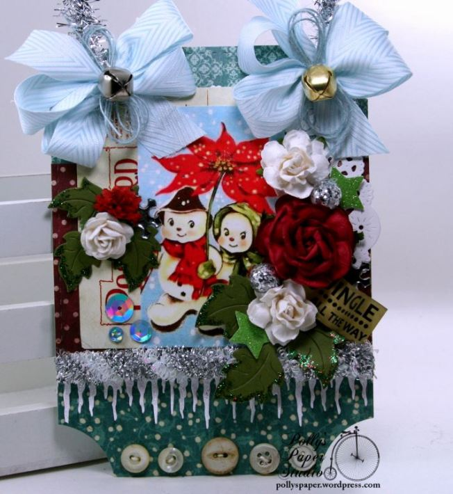 Jingle All the Way Snowman Wall Hanging Polly's Paper Studio 01