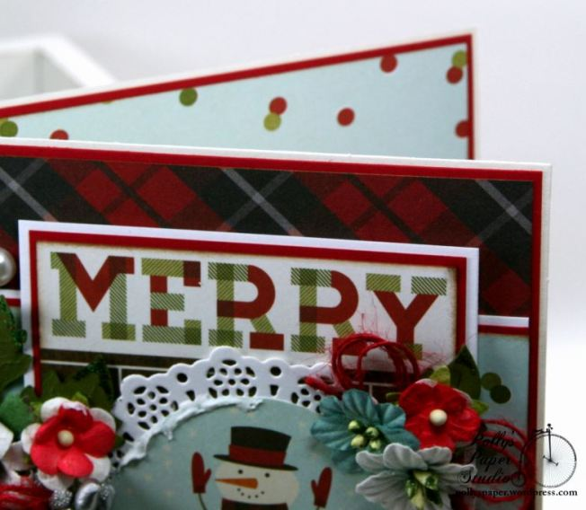 Merry and Bright Snow Globe Christmas Greeting Card Polly's Paper Studio 04