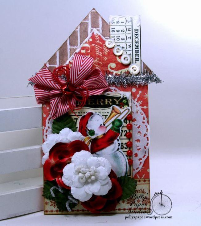 Merry Bingo Snowman House Tag 01