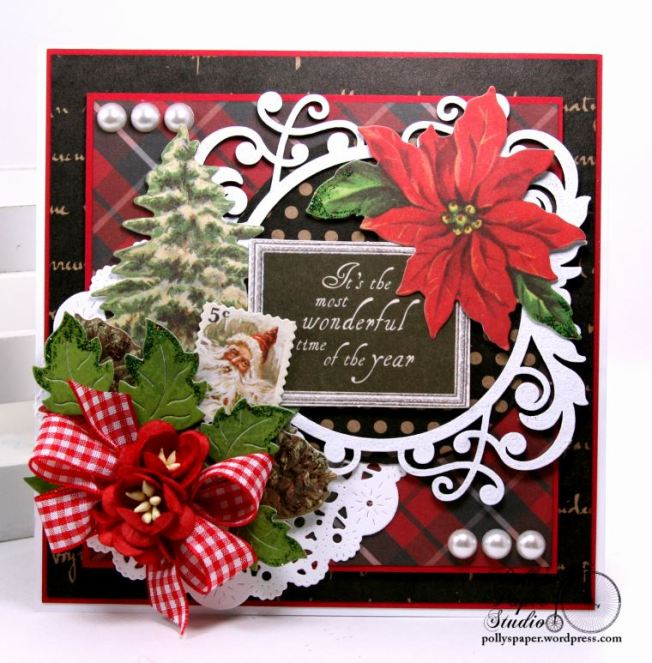 Most Wonderful Time of the Year Christmas Greeting Card Polly's Paper Studio 01