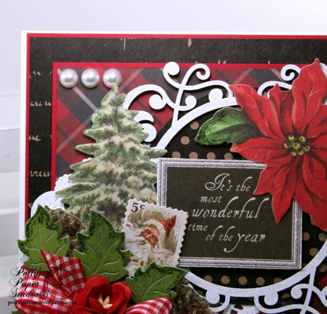 Most Wonderful Time of the Year Christmas Greeting Card Polly's Paper Studio 03