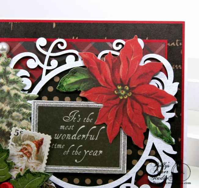 Most Wonderful Time of the Year Christmas Greeting Card Polly's Paper Studio 04