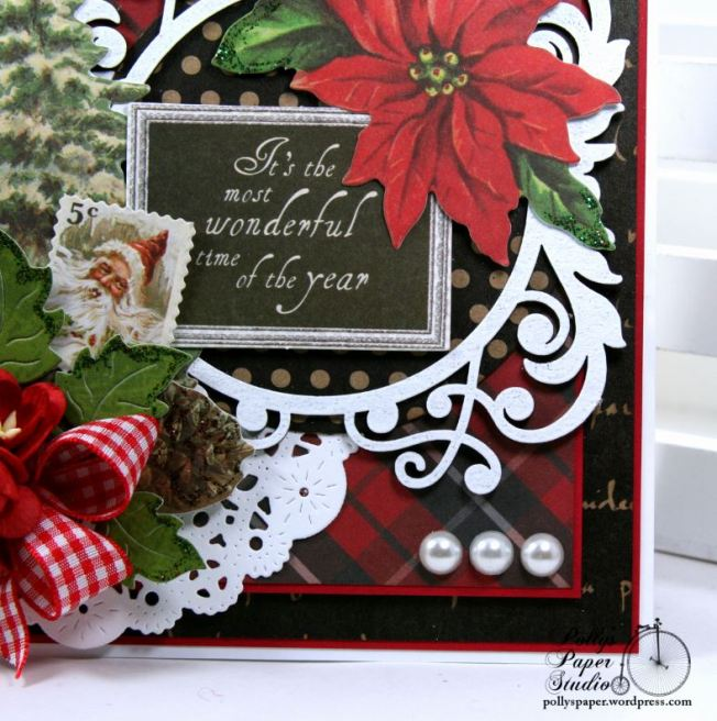 Most Wonderful Time of the Year Christmas Greeting Card Polly's Paper Studio 05