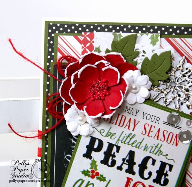 Peace and Joy Bi-Fold Christmas Greeting Card Polly's Paper Studio 02