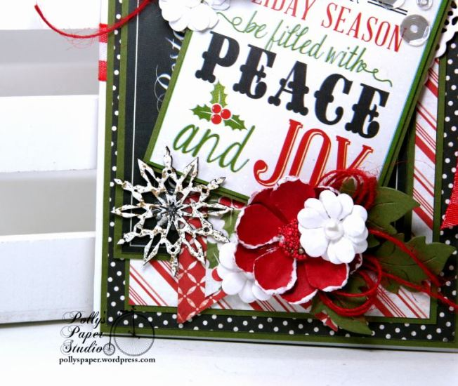 Peace and Joy Bi-Fold Christmas Greeting Card Polly's Paper Studio 03