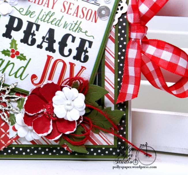 Peace and Joy Bi-Fold Christmas Greeting Card Polly's Paper Studio 04