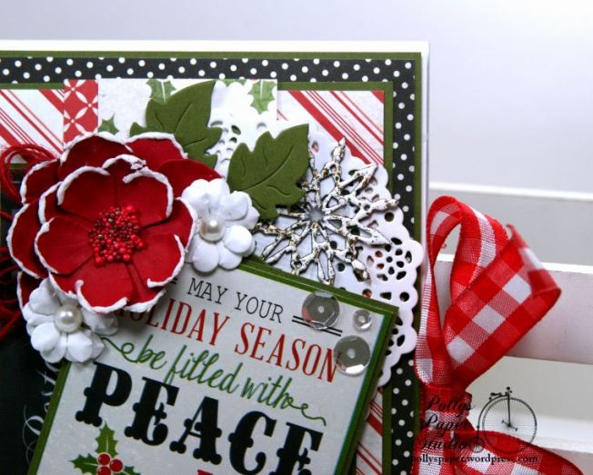 Peace and Joy Bi-Fold Christmas Greeting Card Polly's Paper Studio 05