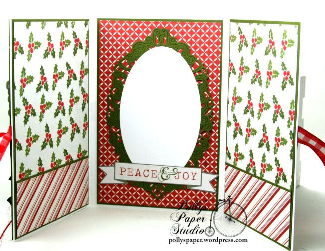 Peace and Joy Bi-Fold Christmas Greeting Card Polly's Paper Studio 07
