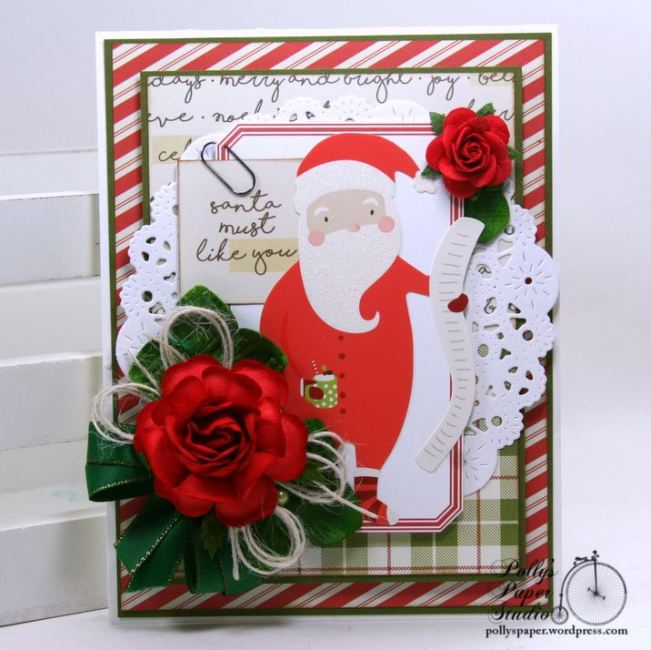 Santa Must Like You Christmas Greeting Card Polly's Paper Studio 01