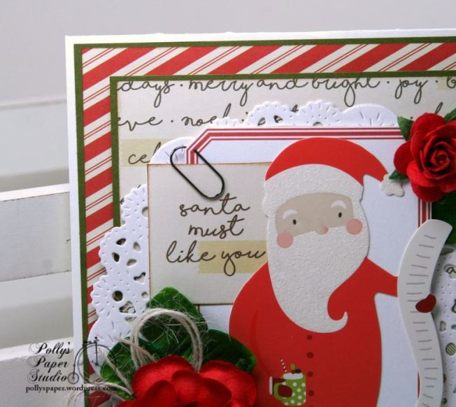 Santa Must Like You Christmas Greeting Card Polly's Paper Studio 02