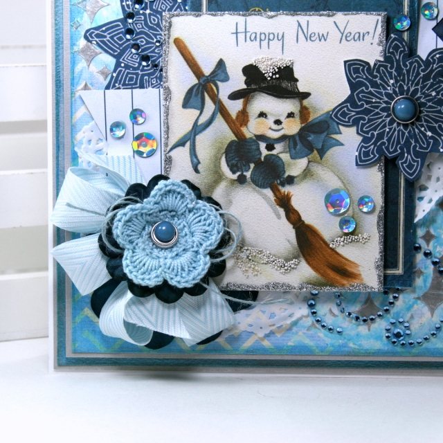 Happy New Year Greeting Card by Ginny Nemchak for BoBunny using On This Day