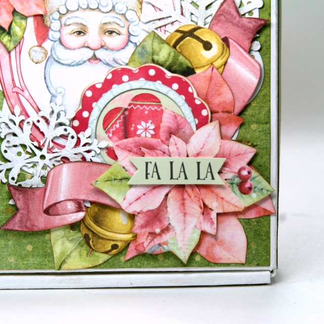 Winter Survival Gift Box by Ginny Nemchak using BoBunny Carousel Christmas