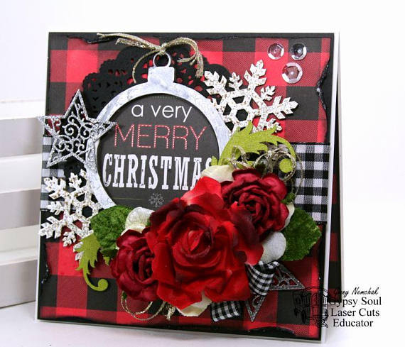 A Verry Merry Christmas Greeting Card Polly's Paper Studio 01