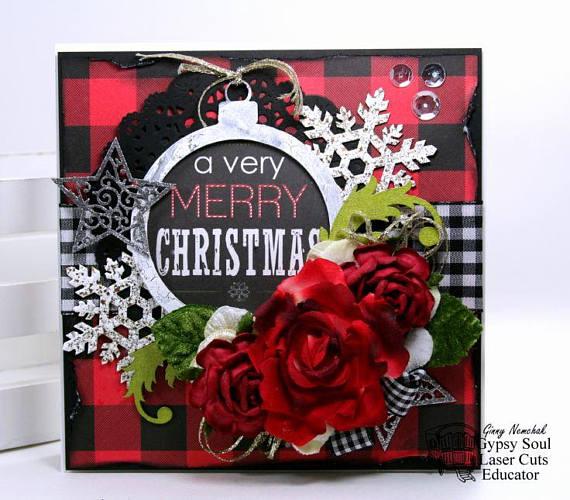 A Verry Merry Christmas Greeting Card Polly's Paper Studio 02