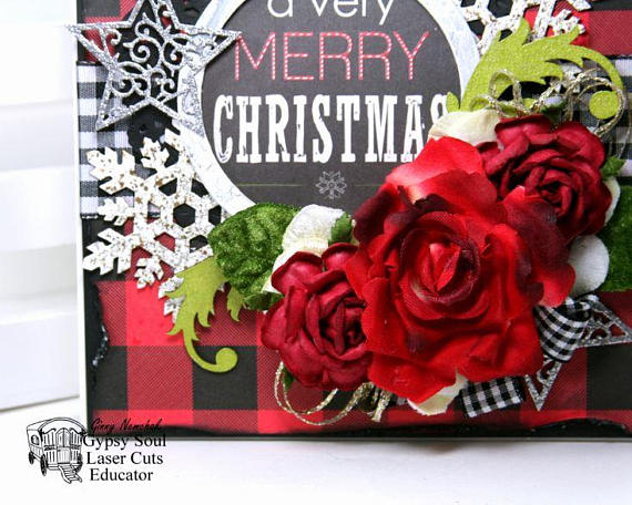 A Verry Merry Christmas Greeting Card Polly's Paper Studio 03