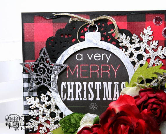 A Verry Merry Christmas Greeting Card Polly's Paper Studio 04