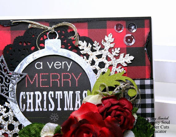 A Verry Merry Christmas Greeting Card Polly's Paper Studio 05