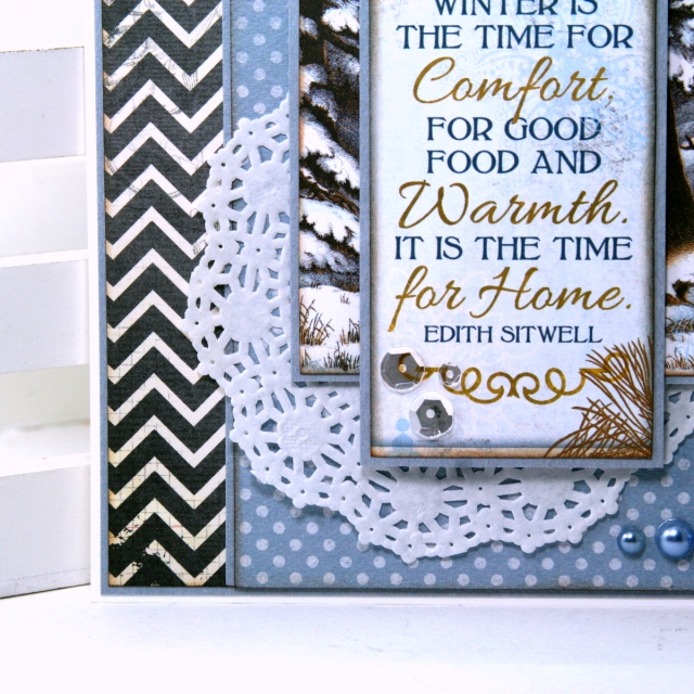 Winter is the Time Greeting Card by Ginny Nemchak for BoBunny using On This Day