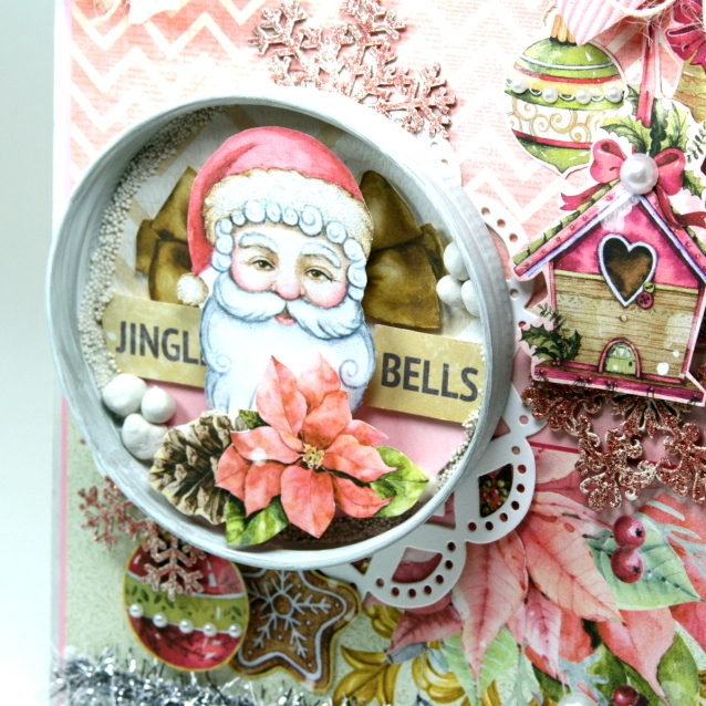 Jingle Bells Shabby Chic Christmas Wall Hanging Ginny Nemchak BoBunny Carousel Christmas