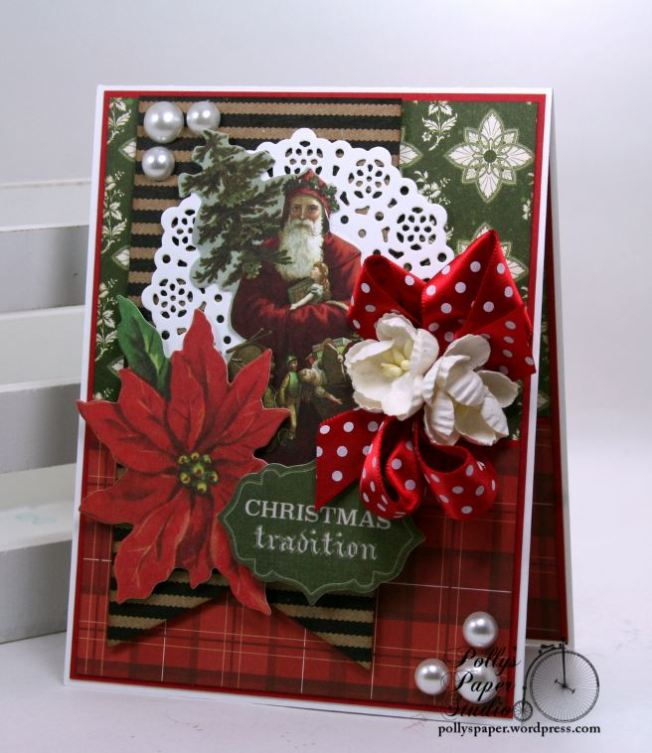 Christmas Traditions Greeitng Card Polly's Paper Studio 01