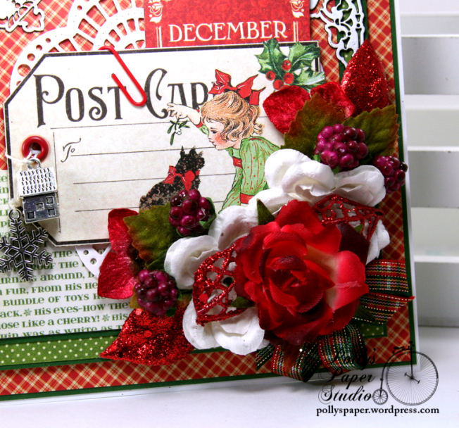 December Postcard Tag Christmas Greeting Card Polly's Paper Studio 03