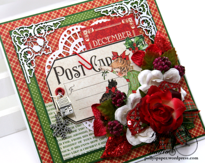 December Postcard Tag Christmas Greeting Card Polly's Paper Studio 05