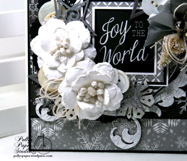 Joy to the World Christmas Greeting Card Polly's Paper Studio 3