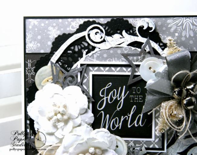 Joy to the World Christmas Greeting Card Polly's Paper Studio 4
