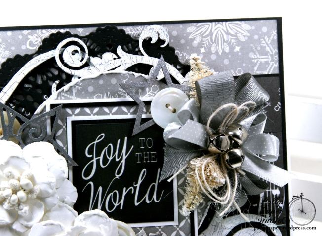 Joy to the World Christmas Greeting Card Polly's Paper Studio 5