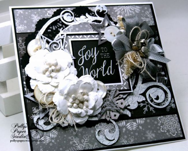 Joy to the World Christmas Greeting Card Polly's Paper Studio 6