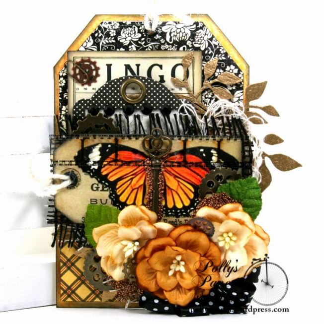 Bingo Butterfly Tag Polly's Paper Studio 01